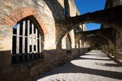 Arcos medievais na missão texas de San Jose fotografia de stock