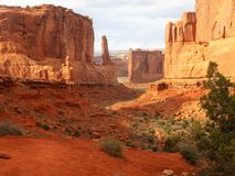 Arcos meridionales del parque nacional de Utah Imagen de archivo libre de regalías