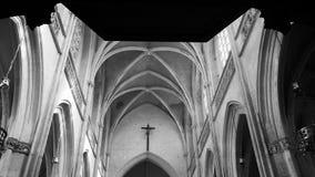 Arcos na igreja Fotografia de Stock