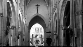 Arcos na igreja Fotografia de Stock Royalty Free