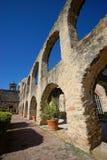 Arcos na missão de San Jose em San Antonio texas Foto de Stock