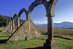 Arcos nas costas do lago de Zirahuen Imagens de Stock