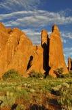 Arcos parque nacional, Moab Utah Imagen de archivo