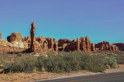 Arcos parque nacional, Utá, EUA Fotografia de Stock