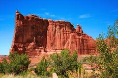 Arcos parque nacional, Utá EUA - torre de Babel, tribunal Towe Fotografia de Stock