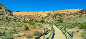 Arcos parque nacional, Utah Imagen de archivo