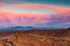 Arcos parque nacional, Utah Fotos de archivo libres de regalías