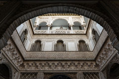 Arcos árabes em Sevilha Fotografia de Stock Royalty Free