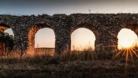 Arcos romanos fotografía de archivo