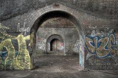Arcos sob a estrada de ferro Fotografia de Stock