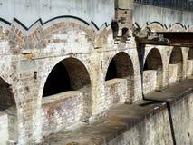 Arcos viejos del ladrillo Fotografía de archivo