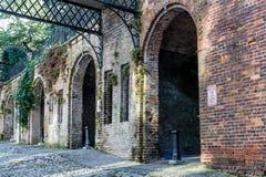 Arcos viejos del ladrillo Fotos de archivo libres de regalías