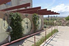 Arcosanti ett experiment i stads- arkitektur Arkivfoton