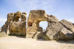 Arcosoli Bizantini, Agrigento, Sicily - Zdjęcia Stock
