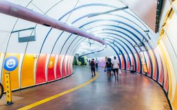 Arcoverde地铁车站在里约热内卢,巴西 免版税库存照片