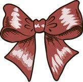 Arcs avec la couleur rouge de rubans sur le fond blanc Photos libres de droits