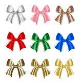 Arcs colorés de cadeau Photographie stock libre de droits