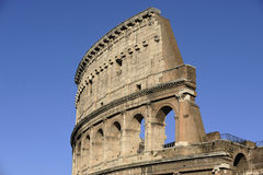 Arcs and Columns of Colosseum Stock Images