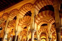 Arcs de cathédrale de Cordoue Image stock