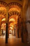 Arcs de cathédrale de Cordoue Photographie stock libre de droits