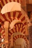 Arcs de cathédrale de Cordoue Photos stock