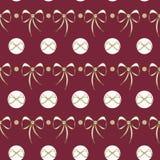 Arcs de dentelle de vecteur sur le fond sans couture rouge-foncé illustration stock