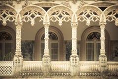 Arcs de palais de Bussaco Photographie stock