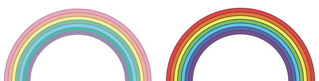 Arcs-en-ciel originaux et couleurs en pastel de tumblr illustration de vecteur