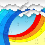 Arcs Weather Background Means Clouds Rain And Rainbow Stock Photography