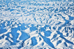 Arctic. Frozen terrain of the arctic showing mountains Royalty Free Stock Photography