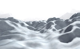 Arctic. Field. 3d render illustration Royalty Free Stock Photos