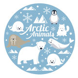 Arctic Animals, Label Royalty Free Stock Images