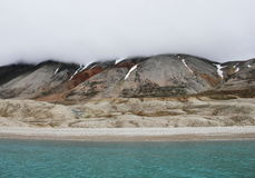 Arctic beach in Spitsbergen (Svalbard) Stock Photography