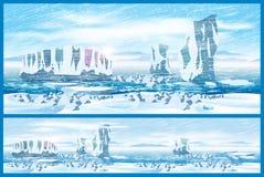 Arctic blizzard Stock Images