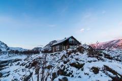 Arctic cabin in Norway Stock Image