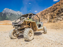 Arctic Cat Buggy on Erzberg Festival. Styria, Austria - June 7, 2015: Austria, EU - June 7th, 2015: Erzberg Rodeo 2015, Motocross Mekka for MX drivers around the Royalty Free Stock Image