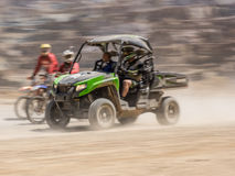 Arctic Cat Buggy on Erzberg Festival. Styria, Austria - June 7, 2015: Austria, EU - June 7th, 2015: Erzberg Rodeo 2015, Motocross Mekka for MX drivers around the Royalty Free Stock Photos