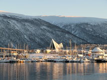 Arctic cathedral Tromsø Royalty Free Stock Photography