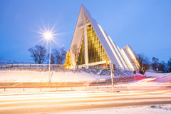 Arctic Cathedral Tromso Stock Image