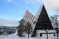 Arctic Cathedral at Tromso, Norway Stock Photography