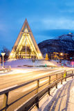 Arctic Cathedral Tromso Norway Royalty Free Stock Photos