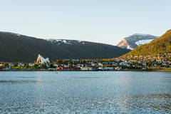 The Arctic Cathedral in Tromso, Norway Royalty Free Stock Photography