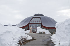 Arctic Circle Center In Snow Stock Image