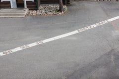 Arctic circle mark near Rovaniemi, Finland Royalty Free Stock Photography