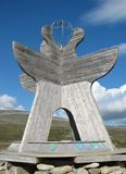 Arctic Circle in Norway. Marker on the arctic circle in Norway Royalty Free Stock Photo