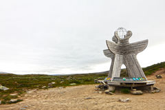 Arctic Circle in Norway Stock Images