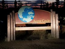 Arctic Circle Post royalty free stock image