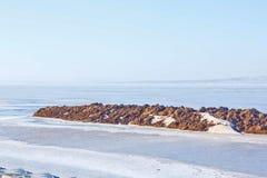 Arctic coast of antarctica ocean water ice Royalty Free Stock Images