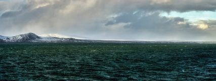 Arctic coast Bering sea panorama Stock Photos