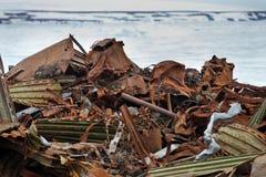 Arctic coast pollution Stock Photos